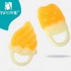 厂家直供批发 安配 水果造型婴儿磨牙胶 硅胶安抚牙胶 磨牙器 35g
