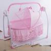 婴儿电动摇床多功能婴儿床智能电动便携式折叠音乐摇篮一件代发