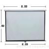 电动投影仪幕布100寸4:3 16:9高清家用3D白塑投影机屏幕工厂直供
