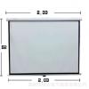 投影机白塑电动幕布120寸4:3 16:9高清3D办公投影仪幕布厂家直销