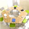 新品组合梯形会议桌 6人简约洽谈桌 多功能职员培训桌椅 办公桌