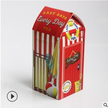 厂家专业定做彩色三角长方形包装盒 糖果礼品盒 食品彩盒批发