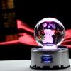 批发情人节礼物水晶音乐盒送女友老婆闺蜜生日礼品 水晶球礼品