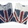 厂家直销ebay,速卖通爆款超大米字旗英伦风格圆纯棉领短袖T恤