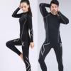 男女士加绒套装 运动压缩衣裤紧身健身跑步服骑行服速干长袖长裤