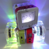 尼芝TT-028水晶显示屏插TF卡/U盘便携式迷你小音箱响FM收音插耳机