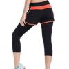 假两件 七分 瑜伽裤 休闲 健身裤 女子 跑步运动裤速干透气打底裤