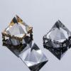 水晶金字塔定制跨境货源水晶工艺品创意礼品办公摆件正三角体喷砂