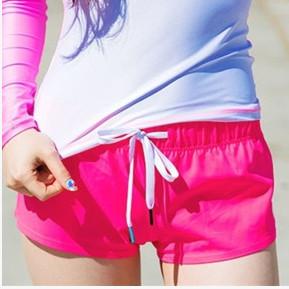 女子瑜伽短裤健身户外速干女修身夏季透气休闲潜水服一件代发