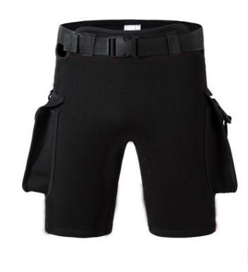 新款技术潜水短裤防晒裤带配重袋可调松紧深潜短裤氯丁橡胶潜水裤