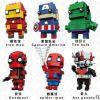 兼容各种拼装积木方头仔大头漫威钢铁侠模型复仇者联盟3玩具公仔