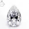 极白水滴莫桑钻 2克拉莫桑石裸钻人造钻石裸石K金刻腰码配证书