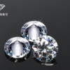 厂家直供圆形莫桑石D色莫桑钻裸石超白人造钻石可亚博体育app在线下载18k金