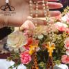 AEC 珍珠工艺品 手工皮质长颈鹿车挂 淡水珍珠钥匙挂件