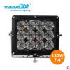 三锦 7.4寸led大功率工程机械灯加装改装 120w led工作灯 越野灯