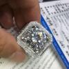 优白莫桑石 奢白系列D色莫桑钻石 18K金铂金裸石定做