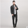 龙仕达男士运动套装爸爸款中老年透气运动服春秋老人散步运动装棉