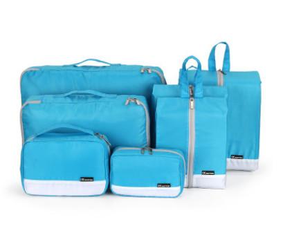 旅行收纳包套装 多功能行李箱收纳包袋7件套套装批发糖果色收纳包