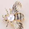 微镶小蜜蜂珍珠胸花 韩版时尚领扣胸针胸花 服饰配件 DIY饰品配件