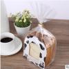 厂家现货切片吐司4-6片加厚白卡纸底托 烘焙面包透明包装袋可定制