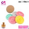 创意食品级木柄硅胶饼干模具 DIY烘焙饼干印章硅胶厂家直销定制