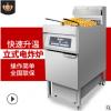 商用立式电热炸炉定时自动单双缸双筛电炸炉油炸锅汉堡炸鸡店设备