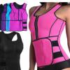 hot shaper发热运动背心拉链收腹部束身腰带氯丁橡胶女士塑身衣