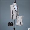 厂家直销新款新郎结婚礼服伴郎西装主持人歌手演出职业正装西服套