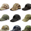 军迷户外运动魔术贴迷彩棒球帽 户外战术帽遮阳帽棒球帽现货