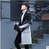 OBCY出口外贸男士中产款呢子风衣大衣韩版潮流简约外套男装秋冬季