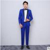men suit 厂家直销韩版蓝色休闲小西服套装 2019新款男士西装套装
