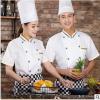 厨师服短袖 一件代发 纯白厨师工服工作服 职业装工装可绣字2019