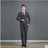 2019新品男士西服套装男休闲西装韩版修身格纹三件套新郎伴礼服批