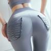 新款lazada提臀健身裤女 双面裸感高腰蜜桃臀跑步紧身运动瑜伽裤