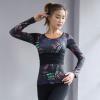 2018冬季新款运动健身长袖T恤 修身速干瑜伽舞蹈带胸垫T恤批发女