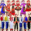 新款广西壮族成人男女舞蹈服演出服瑶族彝族苗族少数民族表演服饰