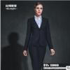WW28188新款女士韩版小西服 深藏青 春秋装套装仿毛面料