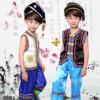 儿童苗族演出服少数民族表演服男童壮族傣族舞蹈服葫芦丝表演服装