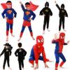 儿童万圣节cosplay服装幼儿蜘蛛侠紧身衣超人衣服演出蝙蝠侠男童