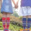 SANTO 山拓户外袜 儿童滑雪袜 冬季保暖长筒袜 加厚毛圈袜 登山袜
