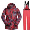 跨境货源 滑雪服男套装单板双板防水大码户外冬季保暖 一件代发
