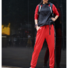 北京森林户外2019秋季新品原创运动四面弹力束脚拼色速干裤女式