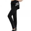 批发新款休闲运动假两件紧身运动瑜伽长裤 女士瑜伽长裤厂家直销