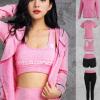 春夏运动服健身衣瑜伽服五件套 吸汗高腰运动套装女厂家低价批发