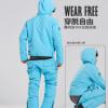 新款男女单板连体滑雪服衣裤套装防水夹棉单双板情侣滑雪衣