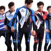 唯派秋冬季加厚抓绒骑行服长袖套装批发 男女款自行车骑行服工厂