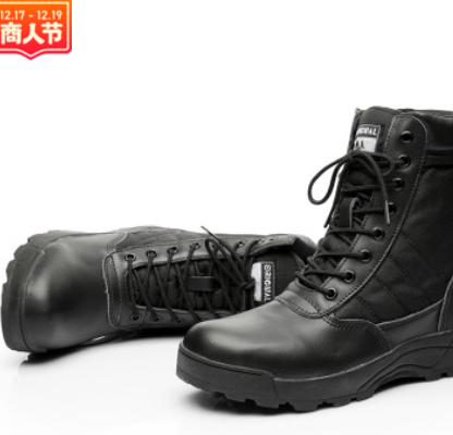 厂家直销户外战术靴军迷登山靴 防滑作战靴 高帮沙漠靴跨境专供