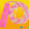 跳绳厂家 儿童小学生彩色竹节跳绳 成人花样塑料百节竹节跳绳