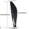 户外防紫外线遮阳伞 210D牛津布防尘罩 黑色户外防水雨伞罩