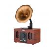 新款AS80复古无线蓝牙音箱免提通话插卡U盘怀旧小音响仿古留声机